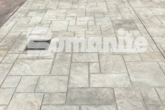 Bomanite Bomacron Ashlar Slate was incorporated into the surface design at the Tower Square pavilion to create a decorative and durable surface and the lengthy and laborious installation earned Connecticut Bomanite Systems the 2018 Bomanite Imprint Systems Bronze Award.