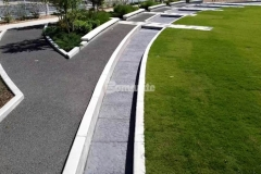 Bomanite Imprint Systems are showcased here with the Bomacron Chipped Shale pattern, which was used to create a water feature and splash pad that emulate riverbed rock, both of which add stylish detail to Owasso's Redbud Festival Park.