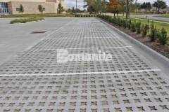 Bomanite Grasscrete was expertly installed here by our partner, Texas Bomanite, using biodegradable Molded Pulp Formers and crushed stone to fill the voids, creating a decrease in the overall impervious percentage while allowing for proper stormwater drainage on the site.